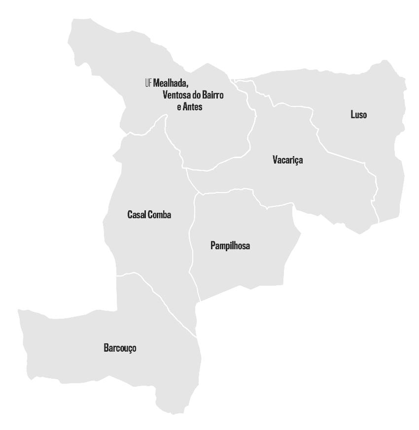 Mapa de Freguesias do Concelho da Mealhada