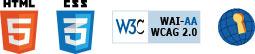 Logos de Acessibilidade - html5 - css3 - WCAG 2.0
