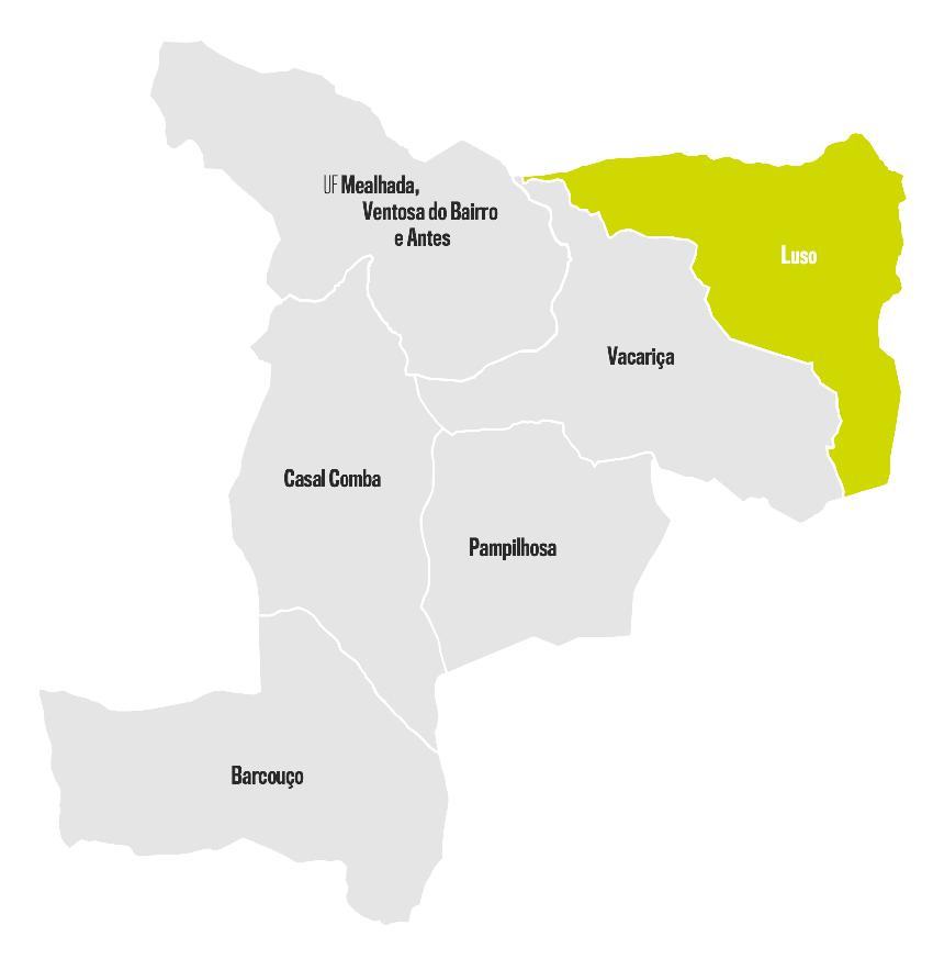 mapa de portugal luso Luso   Município da Mealhada mapa de portugal luso