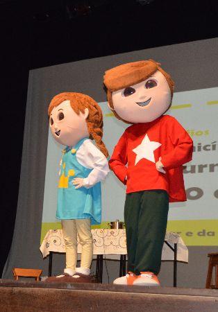 No palco com o Gaspar e a Inês