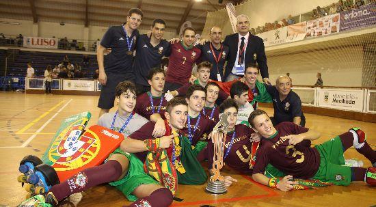 Portugal vence europeu de Hóquei em Patins Sub17 no Luso