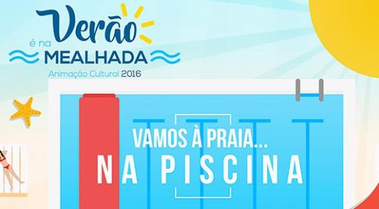Semana de verão com festa da cor, a piscina transformada em praia e a BTT a invadir o parque da cidade da Mealhada