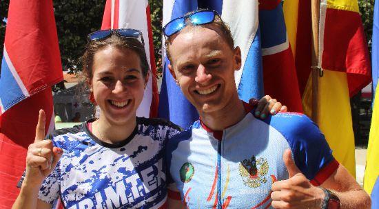 Campeonato do Mundo de Orientação em BTT 2016: Anton Foliforov e Emily Benham