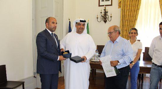 Equipa dos Emirados Árabes Unidos em estágio no Luso foi recebida pelo executivo camarário da Mealhada