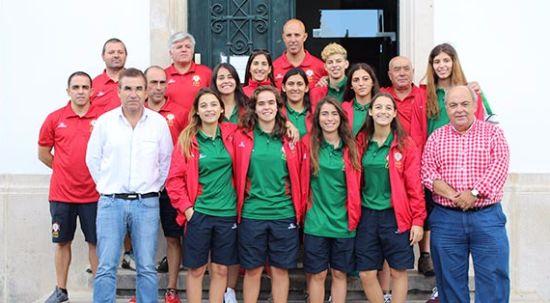 Seleção Nacional Feminina de Hóquei em Patins recebida na Câmara Municipal da Mealhada