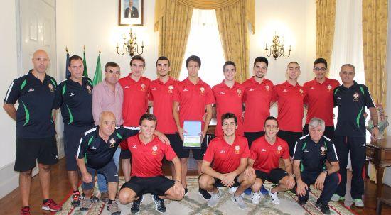 Seleção Nacional de Hóquei em Patins de visita à Câmara Municipal da Mealhada