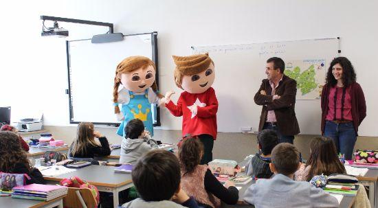 Projeto empreendedorismo nas escolas da Mealhada: visita das mascotes Gaspar e Inês