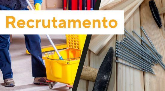 Recrutamento de pessoal - limpeza e conservação