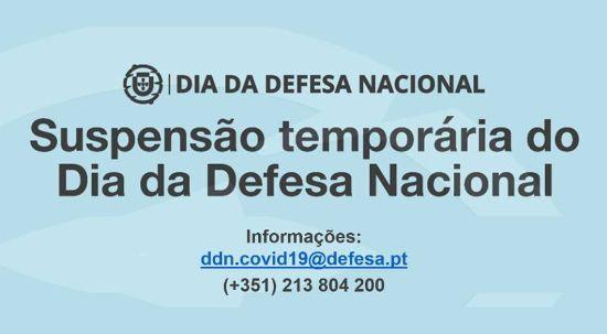 Suspensão temporária do Dia da Defesa Nacional