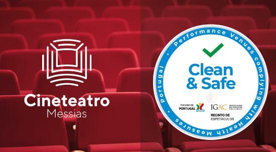 """Cineteatro Messias obtém selo """"Clean & safe"""" da Inspeção-Geral das Atividades Culturais"""