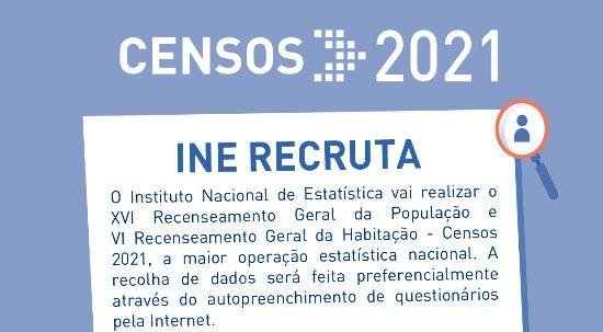 Recrutamento para Delegados Municipais e Delegados Sub-regionais Censos 2021