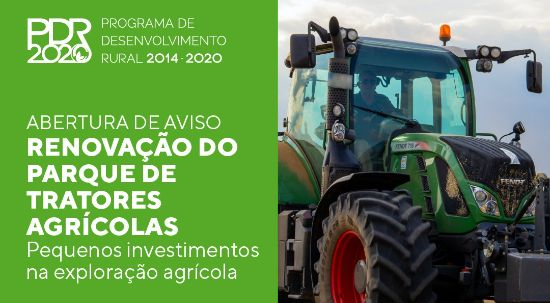 Candidaturas para renovação do parque de tratores agrícolas