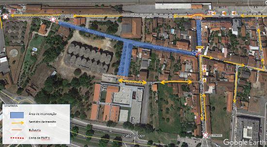 Condicionamento de trânsito no centro da Mealhada