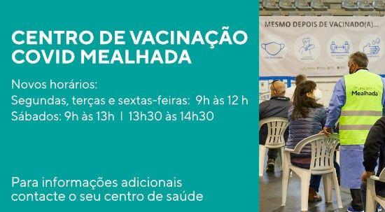 Covid-19: novos horários do Centro de Vacinação