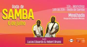 Dupla brasileira vem à Mealhada liderar roda de samba no próximo sábado