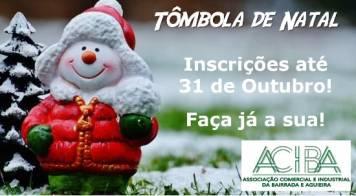 Tômbola de Natal da ACIBA - inscrições