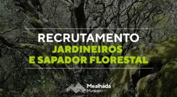 Recrutamento de jardineiros e sapador florestal