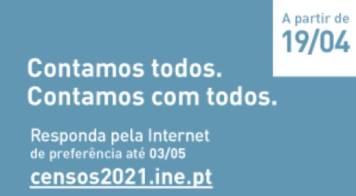 Censos 2021 - Colabore com o INE